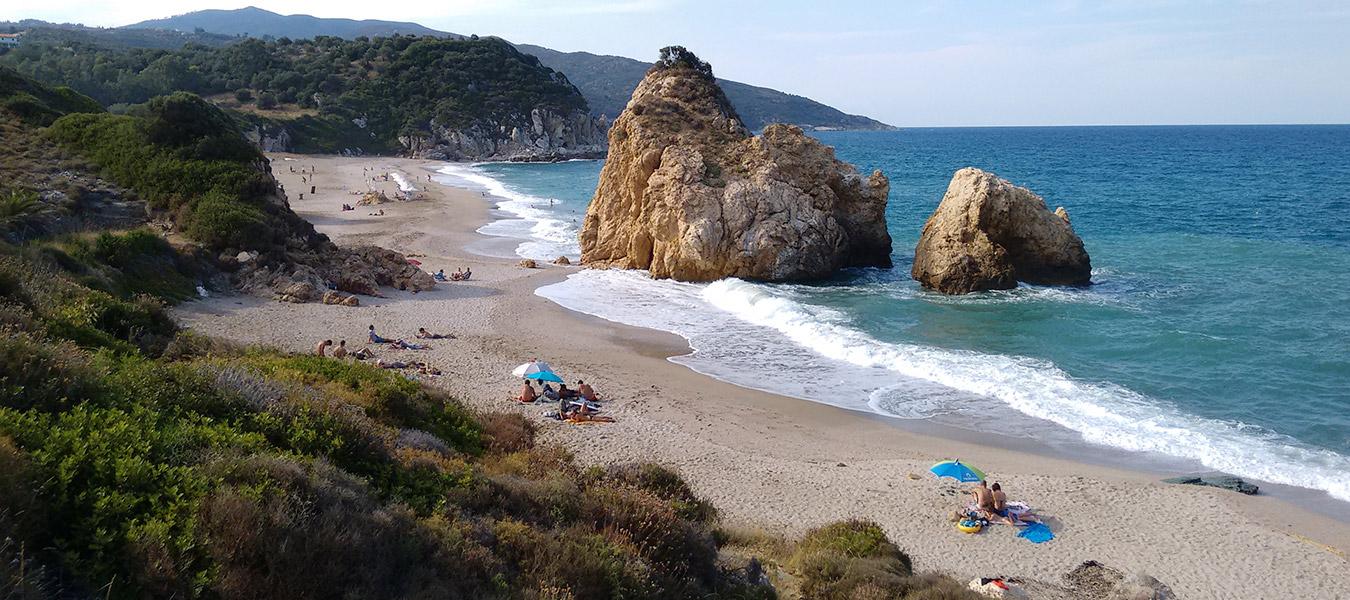 """Strand """"Potistika"""" auf der Ägäisseite"""