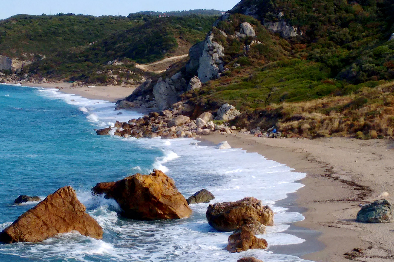 """Strand """"Melani"""" auf der Ägäisseite"""